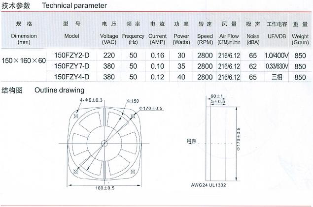 轴流风机_150fzy2-d轴流风机